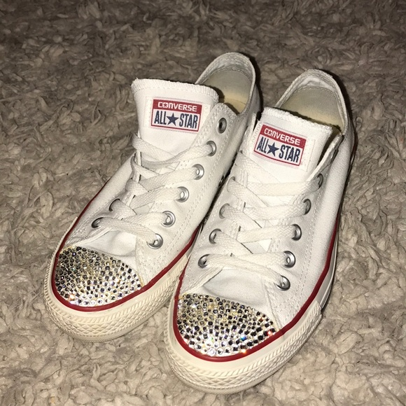 886f0be1af8f Converse Shoes - White Swarovski Crystal Converse